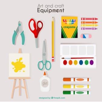 Mão equipamentos artística desenhada
