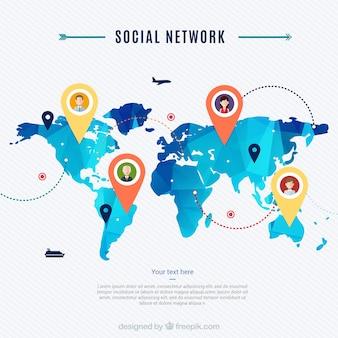 Mapa de rede social