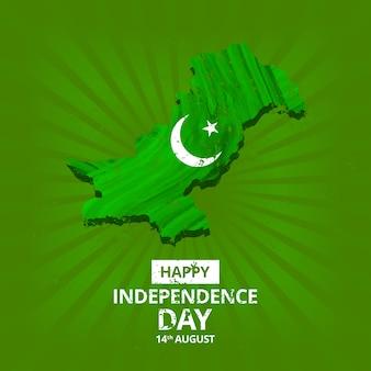 Mapa do Dia da Independência do Paquistão