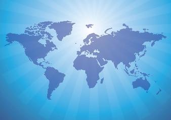 Mapa do mundo vector pontos