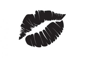 Marca de um beijo preto