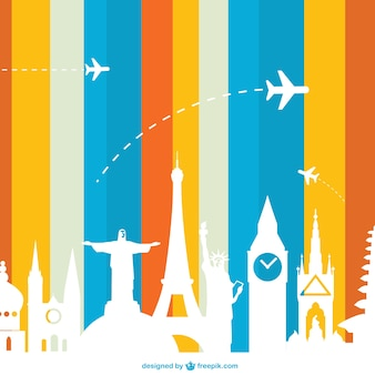 Marcos conceito de turismo de vetores