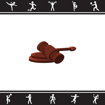 Martelo do árbitro. ilustração vetorial