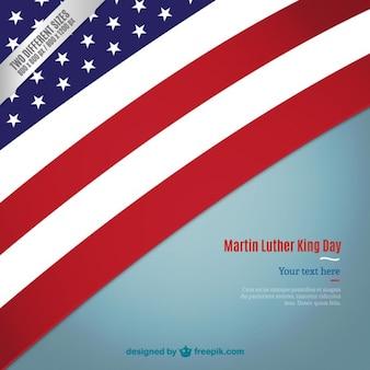 Martin Luther King fundo da bandeira