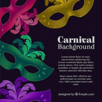 Máscaras de carnaval fundo