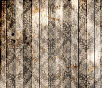 Material de madeira do vintage cai padrão