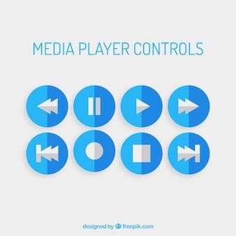 Media azuis jogador controla
