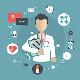 Médico que detém documento médico