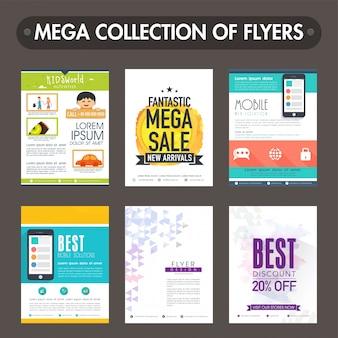 Mega coleção de flyers diferentes ou modelos de design