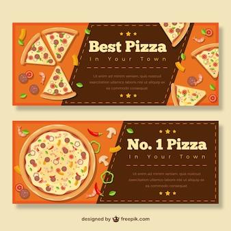Melhor pizza, banners