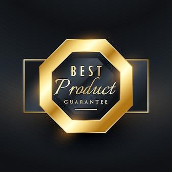 Melhor produto garantia selo dourado etiqueta design