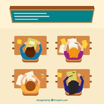 Melhores alunos em vista uma ilustração classe