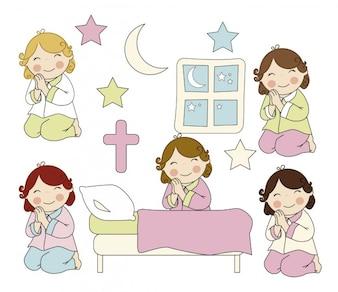 Meninas orando