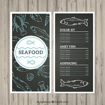 Menu de frutos do mar