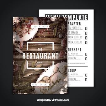 Menu moderno do restaurante