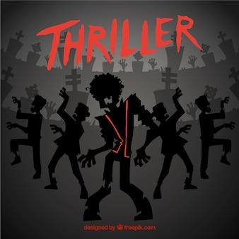 Michael Jackson thriller de fundo