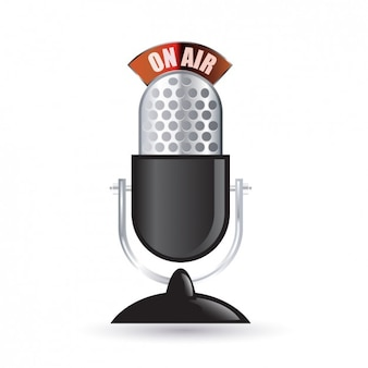 Microfone Ícone Radio Vintage