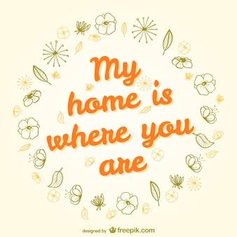 Minha casa é onde você está
