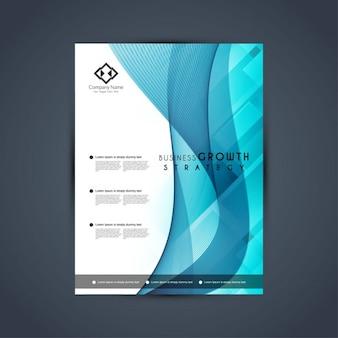 Modelo azul elegante folheto do negócio