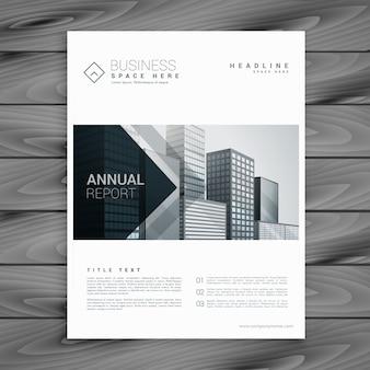 Modelo branco elegante brochura design com formas de seta