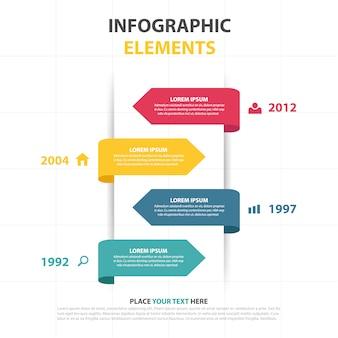 Modelo colorido infográfico negócio seta sumário