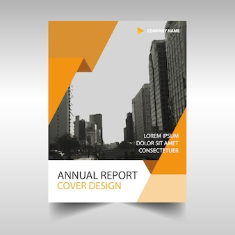 Modelo criativo de laranja capa do livro relatório anual