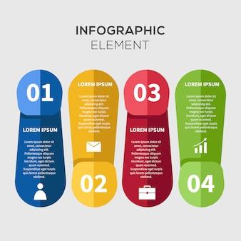 Modelo Criativo de Negócios Infográficos