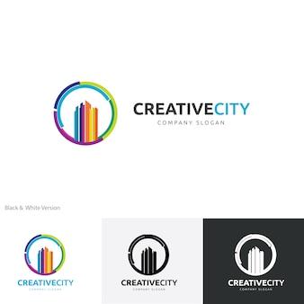 Modelo criativo do logotipo da cidade.