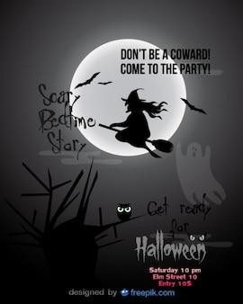 Modelo da festa de Halloween da bruxa do vôo