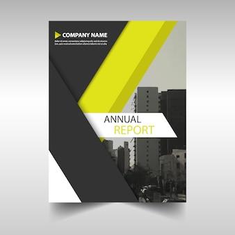 Modelo de anúncio amarelo da capa do livro relatório anual