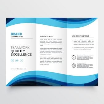 Modelo de brochura com três dobras de negócios