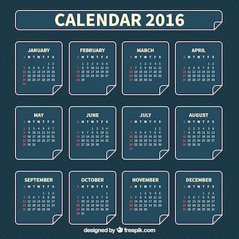 Modelo de calendário Azul