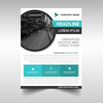 Modelo de capa de livro de relatório anual criativo do círculo azul
