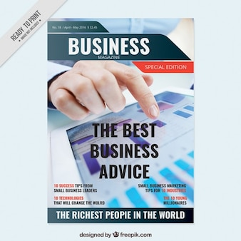 Modelo de capa de revista de negócios
