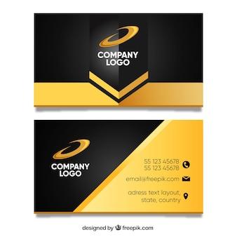 Modelo de cartão de visita dourado