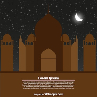 modelo de cartão para Ramadan Kareem