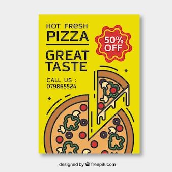 Modelo de cartaz de pizza