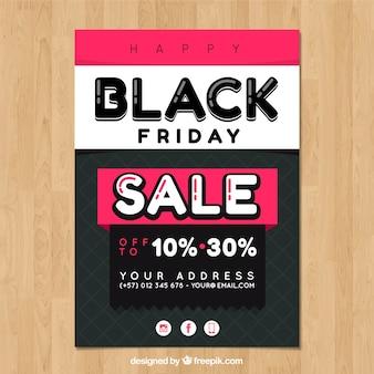 Modelo de cartaz preto e preto colorido