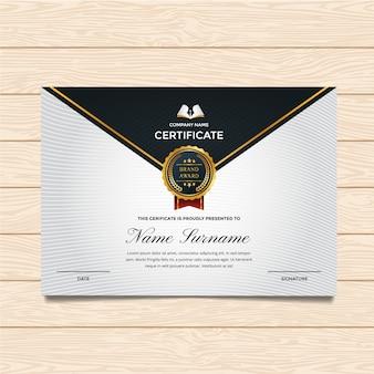 Modelo de certificado clássico