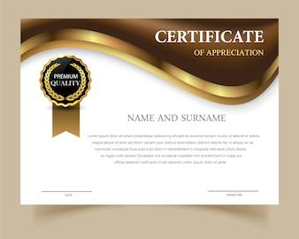 Modelo de certificado com design elegante