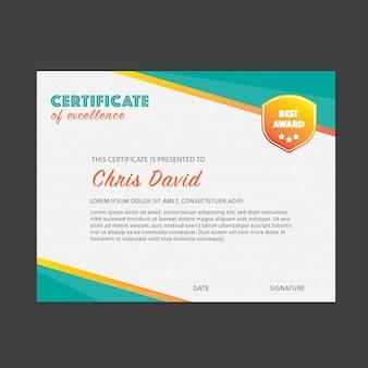 Modelo de certificado de excelência
