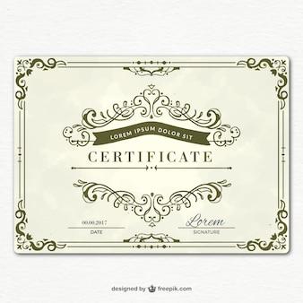 Modelo de certificado de graduação ornamental