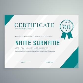 Modelo de certificado de realização simples