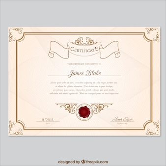 Modelo de certificado Retro