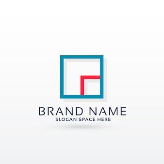 Modelo de conceito de design de logotipo quadrado