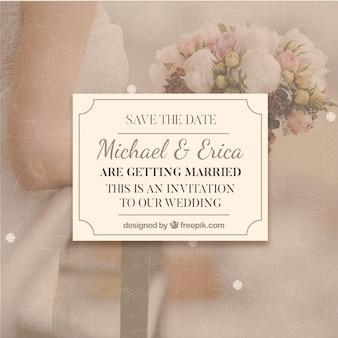 Modelo de convite para casamento