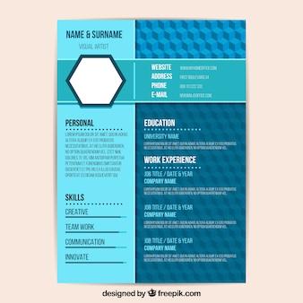 Modelo de currículo azul