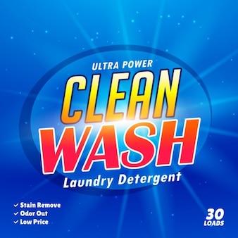 Modelo de design de embalagem para detergente