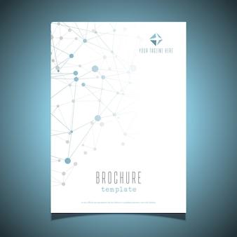 Modelo de design de folheto comercial com pontos de conexão