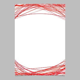 Modelo de documento com listras arqueadas em tons vermelhos - ilustração do folheto de vetores em branco no fundo branco
